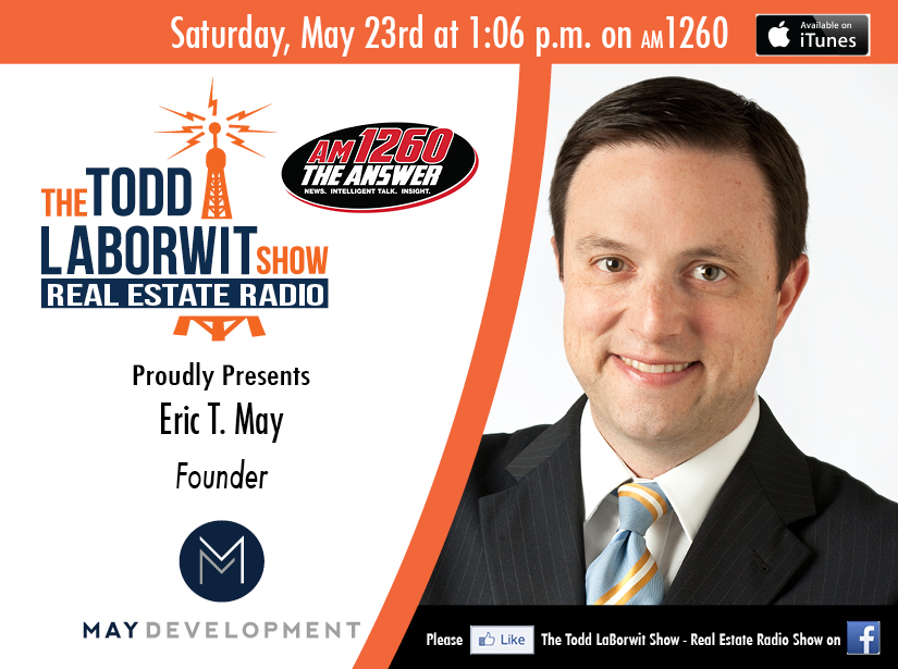 Eric T. May, Founder of May Development - Real Estate Radio Announcement card Image