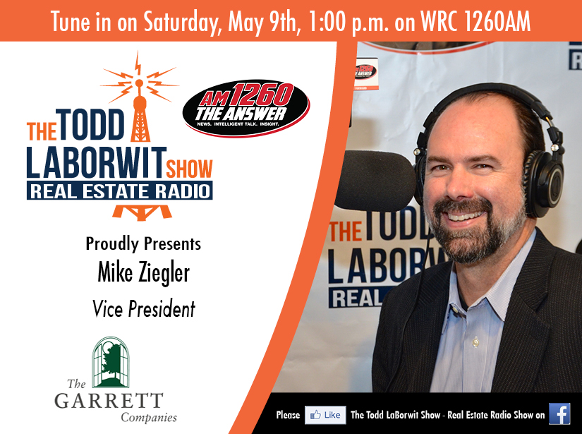 Mike Ziegler of The Garrett Companies -  Real Estate Radio Announcement card Image