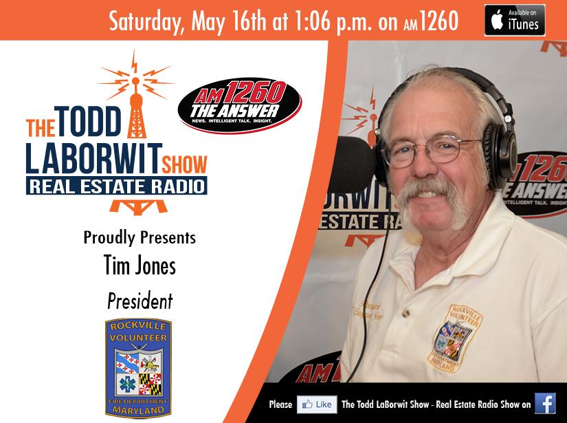 Rockville Volunteer Fire Department Tim Jones on RE Radio Header Image