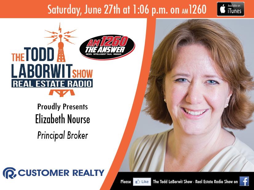 Elizabeth Nourse, Principal Broker with Customer Realty