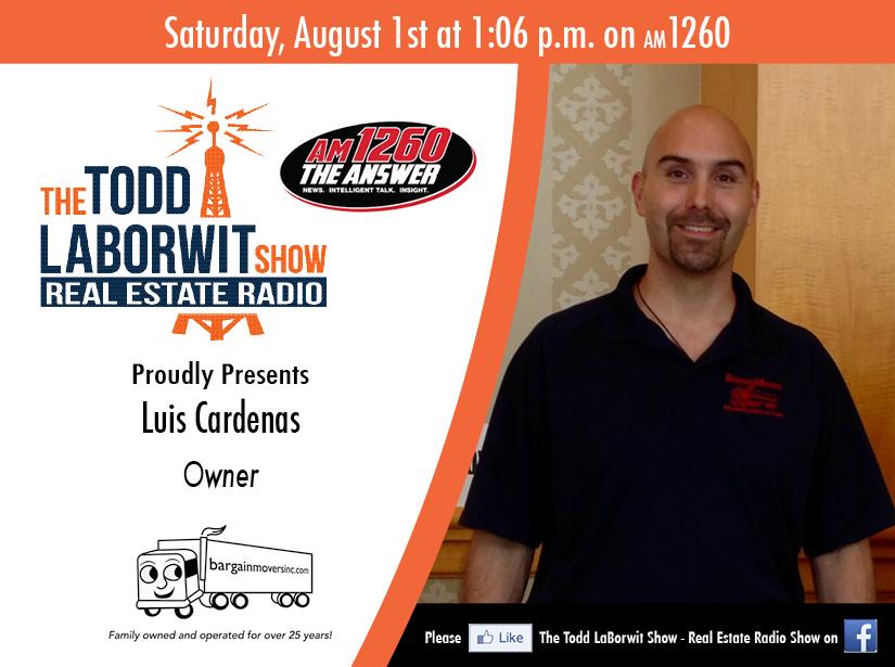 Luis Cardenas, Owner Bargain Movers Inc - Real Estate Radio