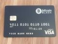 bitcoin metal black card template #1