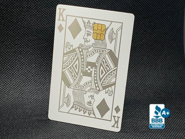 matte white royal custom metal credit card
