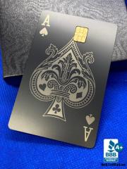 Ace-of-Spades-Design-Custom-Metal-Debit-Cards
