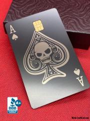 Ace-of-Spades-skull-Design-Custom-Metal-Debit-Card