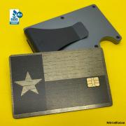 Custom Metal Credit Debit Card texas Flag 2021