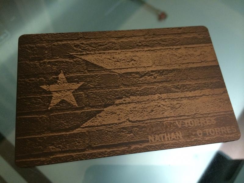 puerto rico flag metal credit card