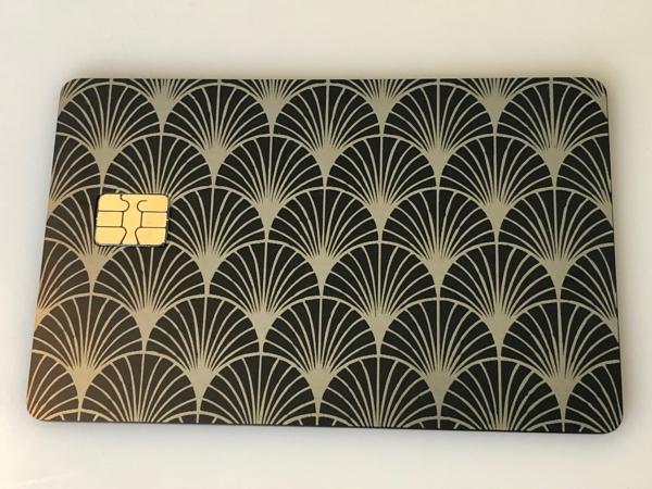 art deco metal credit card