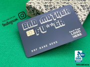 bad mother fucker debit credit card wallet accessory 2021