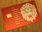 custom red metal credit card
