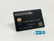 gratitude metal credit card