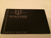 custom batman wayne enterprises metal credit card