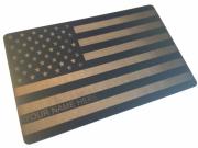 Custom Black Metal Card: Old Glory