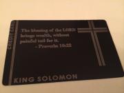 Custom Black Metal Credit Card Religious