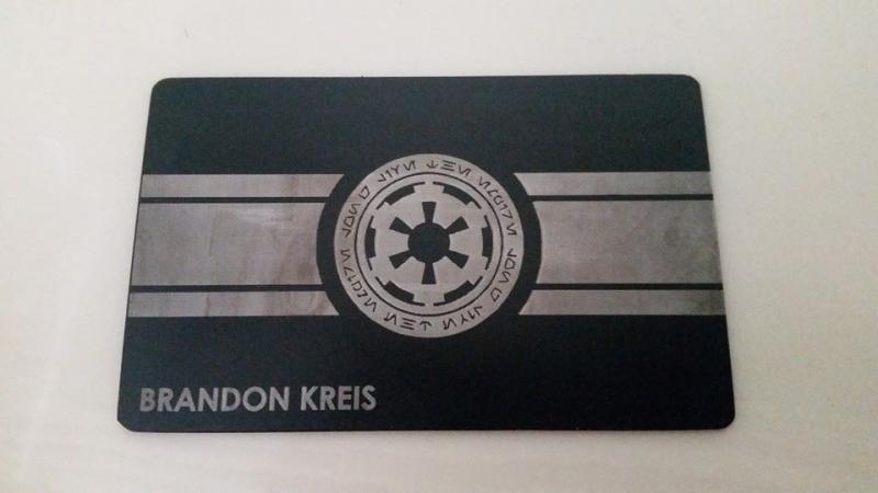 Custom Black Credit Card -Star Wars card