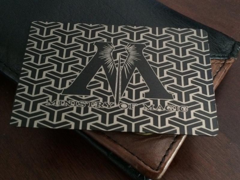 Ministry of magic custom black card