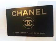 chanel metal credit card
