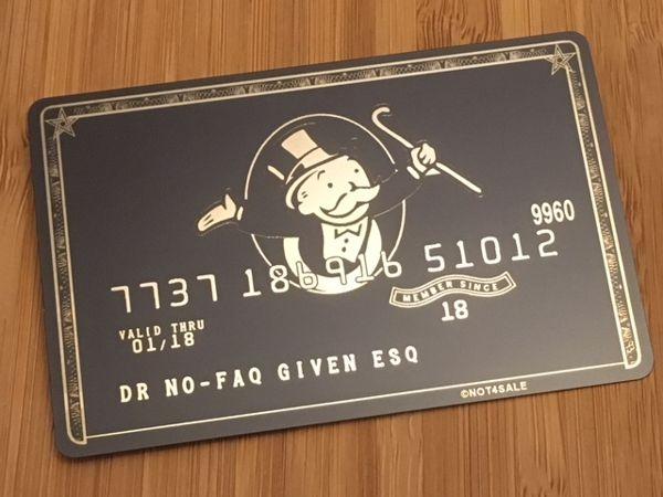 custom metal credit card money bags