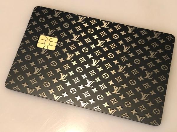 vuiton metal credit card