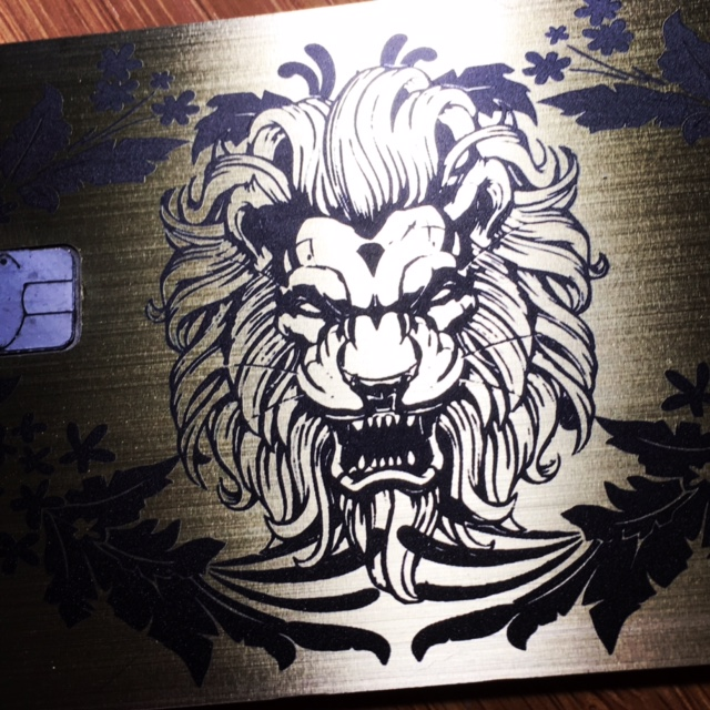 metal credit card lion credit card