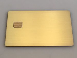 Custom Brushed Gold Plated Metal Credit Card