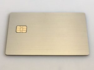 Custom Brushed Stainless Steel metal credit card