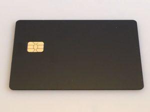 Custom Black Metal Credit Card