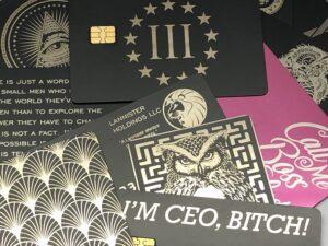 solid metal credit card