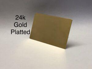 24k gold metal credit card
