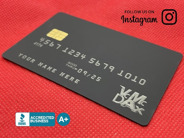 New Velvet Black Metal Credit Card Front 2021