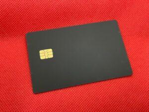 New Velvet Black Metal Credit Card Front
