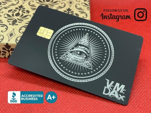 Custom Engraved Velvet-Black Card