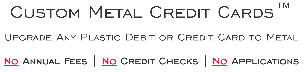 Banner Custom metal credit cards