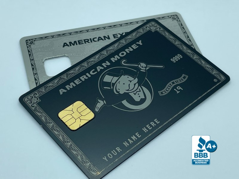 Custom Metal Credit Cards American Money
