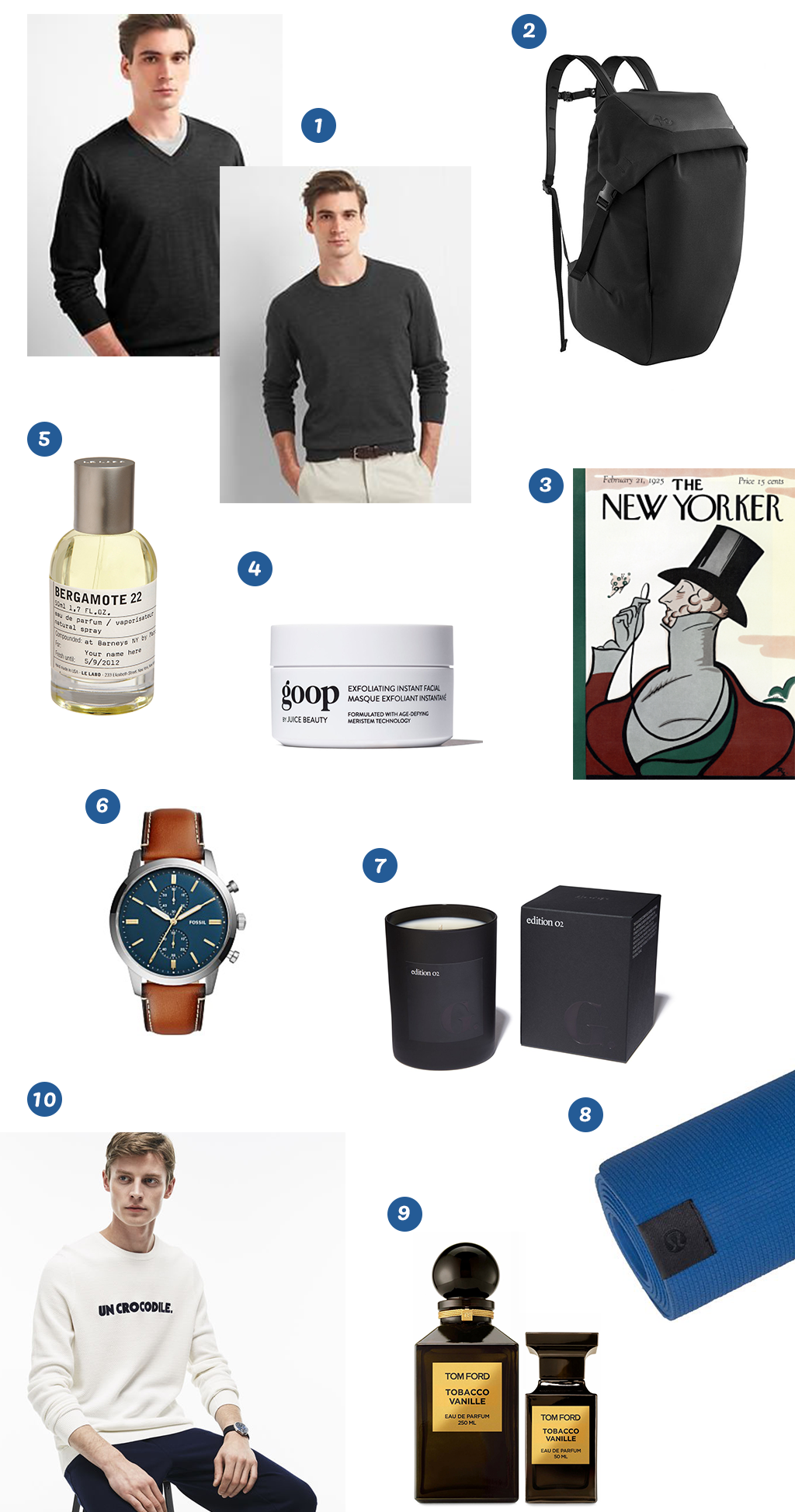 holiday gift guide for men inspired by nick