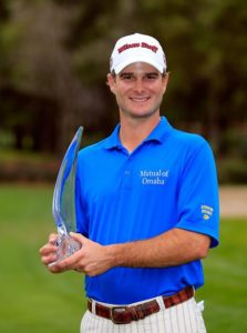 PALM HARBOR, FL - MARCH 17: Kevin Streelman holds the trophy after winning the Tampa Bay Championship at the Innisbrook Resort and Golf Club on March 17, 2013 in Palm Harbor, Florida. (Photo by Sam Greenwood/Getty Images)