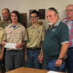 Check presentation to Boy Scout Troop 365