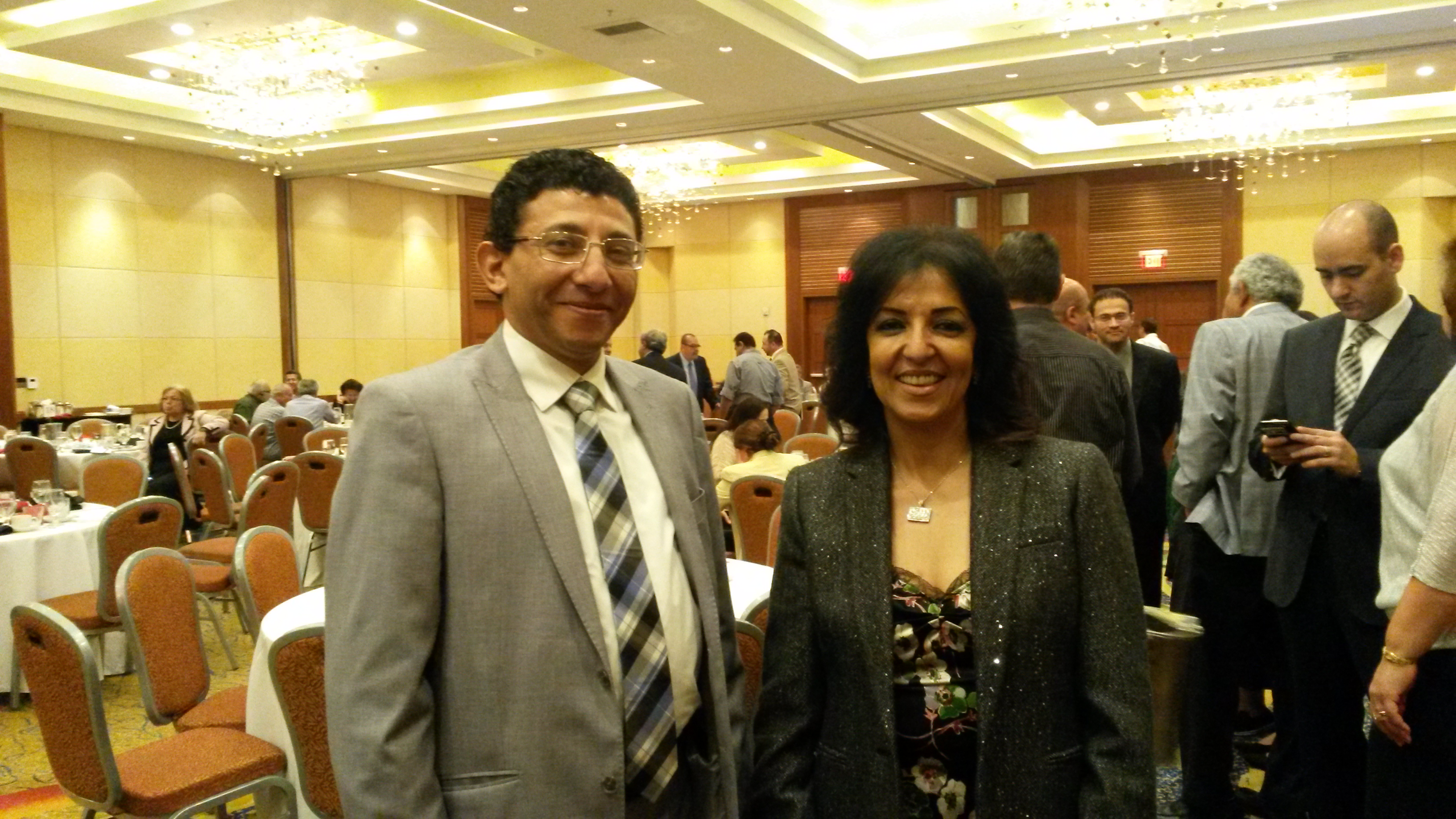 Ambassador Lamia Mekhemar, the consul general of Egypt in Los Angeles in USA and Nagy Guorgui, Chairman of EACHAM