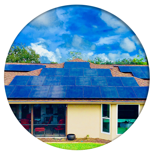 Installation Complete - Solar Panels on Home Roof
