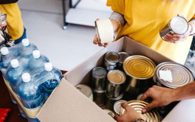 Addressing community needs with food, blood drive