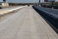 November 2020 - The contractor has placed the new concrete deck on the middle section of the bridge and prepares to shift traffic.