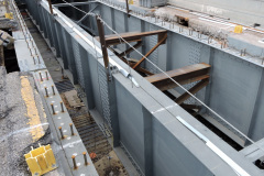 July 2020 - Crews continue to repair and paint the steel structural components of the viaduct.