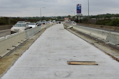 September 2020 - With center area paving complete, the contractor prepares to switch traffic.