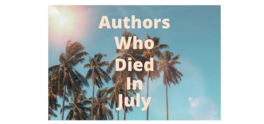 Feature Image - Authors who died in July