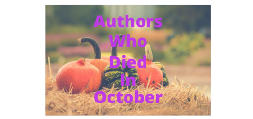 Feature Image - Authors who died in October