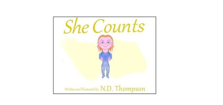 Feature Image - She Counts by N D Thompson