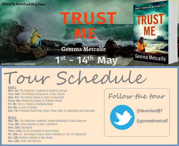 Trust Me by Gemma Metcalfe tour poster dates