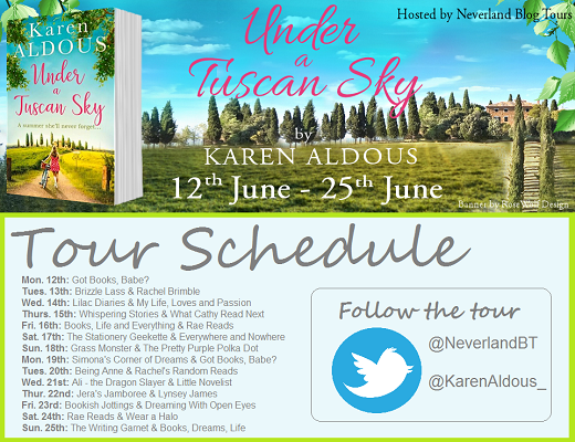 Under a Tuscan Sky by Karen Aldous tour schedule