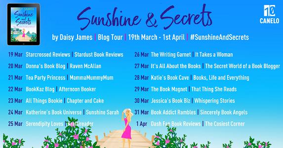 Sunshine & Secrets Blog Tour Banner