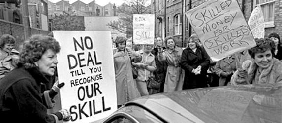 Women at the Dagenham Ford Motors plant, 1968